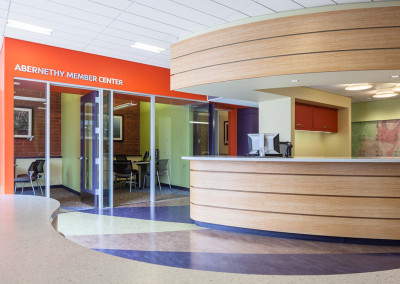 View toward the Interview /Counseling Rooms on the south side of the Welcome Center