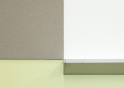 Composition of wall mounted marker and tack boards, in the Meeting Space.
