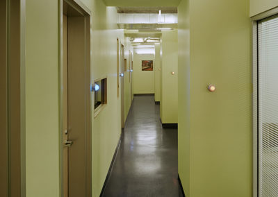 View along the hallway through the administrative offices