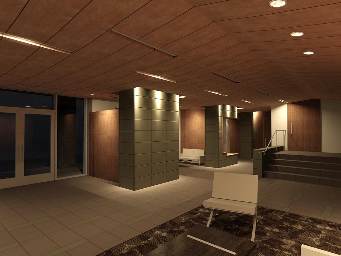 Tectum ceiling tiles