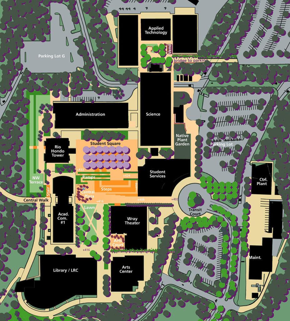 Rio Hondo College campus student square
