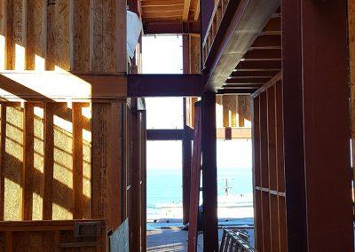 Inside Loft, looking west along north wall toward Master Bedroom Entrance